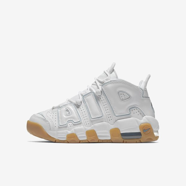 Nike Air More Uptempo White Aqua Gum GS