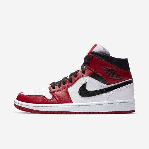 Air Jordan 1 Mid White Chicago