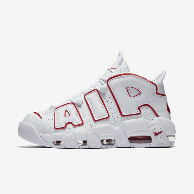 Nike Air More Uptempo White Red Outline