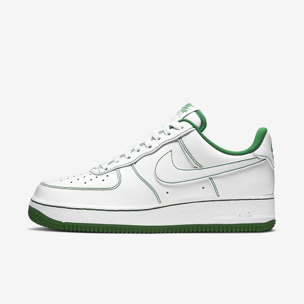 Nike Air Force 1 07 Low Green Stitch